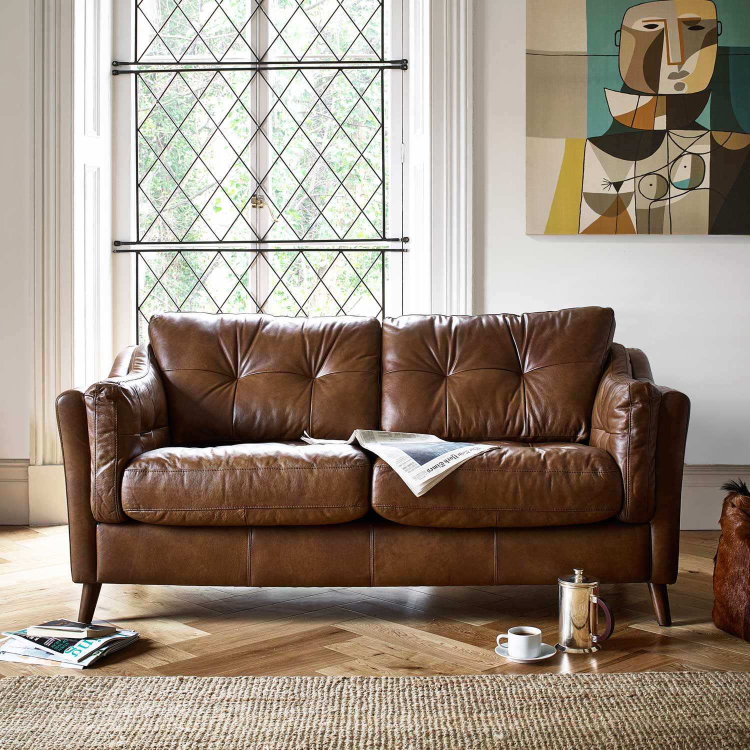 The Saddler Leather Sofa